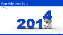 Crushing Year 2014 Widescreen PPT PowerPoint Template Background