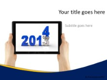 Crushing Year Tablet PPT PowerPoint Template Background