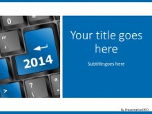 Enter 2014 Blue PPT PowerPoint Template Background