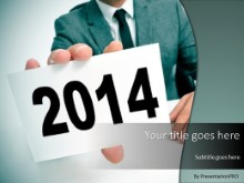 Holding 2014 PPT PowerPoint Template Background