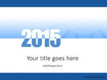 Meshy 2015 Blue PPT PowerPoint Template Background