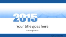 Meshy 2015 Blue Widescreen PPT PowerPoint Template Background