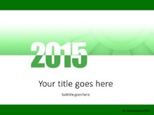 Meshy 2015 Green PPT PowerPoint Template Background