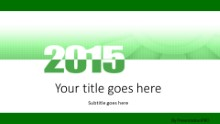 Meshy 2015 Green Widescreen PPT PowerPoint Template Background
