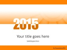 Meshy 2015 Orange PPT PowerPoint Template Background
