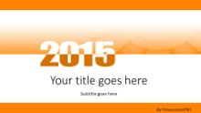 Meshy 2015 Orange Widescreen PPT PowerPoint Template Background