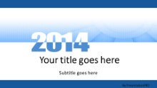 Meshy Blue 2014 Widescreen PPT PowerPoint Template Background