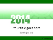 Meshy Green 2014 PPT PowerPoint Template Background