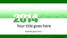 Meshy Green 2014 Widescreen PPT PowerPoint Template Background