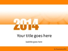 Meshy Orange 2014 PPT PowerPoint Template Background