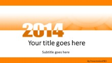 Meshy Orange 2014 Widescreen PPT PowerPoint Template Background