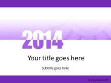 Meshy Purple 2014 PPT PowerPoint Template Background