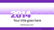 Meshy Purple 2014 Widescreen PPT PowerPoint Template Background