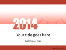 Meshy Red 2014 PPT PowerPoint Template Background