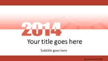 Meshy Red 2014 Widescreen PPT PowerPoint Template Background