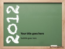 2012 Chalk Board PPT PowerPoint Template Background