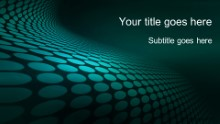 Dotted Waves 01 Teal Widescreen PPT PowerPoint Template Background