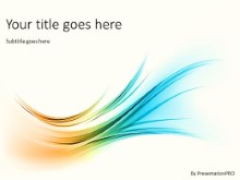 Organic Flow PPT PowerPoint Template Background