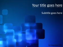 Blue Cubes PPT PowerPoint Template Background