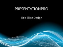 Glow Flow Wave PPT PowerPoint Template Background