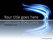Light Stroke Blue PPT PowerPoint Template Background
