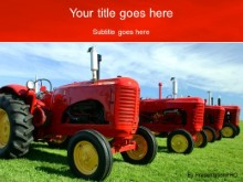 Download red tractors PowerPoint Template and other software plugins for Microsoft PowerPoint