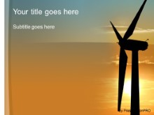 Download wind turbine PowerPoint Template and other software plugins for Microsoft PowerPoint