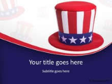Patriotic Hat PPT PowerPoint Template Background