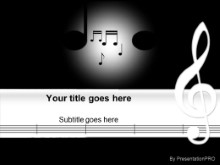 Music Notes 0190 PPT PowerPoint Template Background