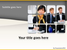 Asian Business Woman PPT PowerPoint Template Background