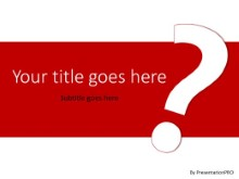 Big Question Red PPT PowerPoint Template Background