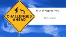 PowerPoint Templates - Challenges Ahead Widescreen