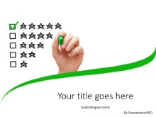 Five Star Rating PPT PowerPoint Template Background
