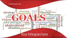 PowerPoint Templates - Goals Tag Cloud Red Widescreen