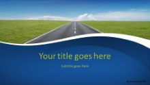 PowerPoint Templates - Going Places Blue Widescreen