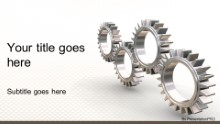 PowerPoint Templates - Interlocking Gears Widescreen