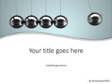 Newtons Cradle 2 PPT PowerPoint Template Background