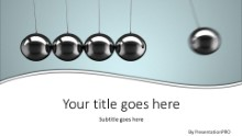 Newtons Cradle 2 Widescreen PPT PowerPoint Template Background