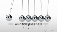 Newtons Cradle Widescreen PPT PowerPoint Template Background