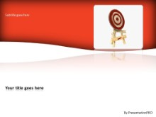 On Target PPT PowerPoint Template Background