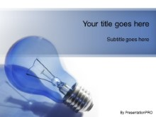 PowerPoint Templates - Idea Brainstorm Blue