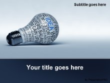 PowerPoint Templates - Idea Concepts Bulb Blue