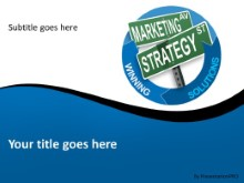 Marketing Strategy Direction PPT PowerPoint Template Background