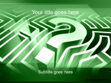 PowerPoint Templates - Question Maze Green