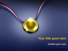 Download the gold medal PowerPoint Template and other software plugins for Microsoft PowerPoint