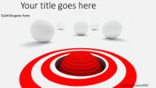 Putting Target Widescreen PPT PowerPoint Template Background