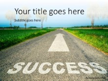 Road To Success PPT PowerPoint Template Background