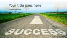 Road To Success Widescreen PPT PowerPoint Template Background