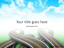 Roads In Clouds PPT PowerPoint Template Background