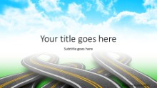 Roads In Clouds Widescreen PPT PowerPoint Template Background